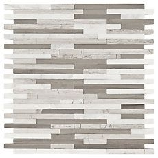 Valentino Light Mixed Linear Marble Mosaic