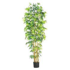 Nearly Natural 7' Bambusa Bamboo Silk Tree