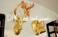 Gold or copper leafing is a great technique to use on any large scale, sculptural element you want to make look like it's made from real gold! This DIY was featured in 'OMG We Bought A House! Episode 8: The Living Room (Part 2)!' Watch the video for the tutorial here. Prep It: paper mache [...]