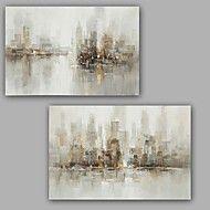 Pintados+à+mão+Abstracto+Pinturas+a+óleo,Modern+/+Clássico+2+Painéis+Tela+Hang-painted+pintura+a+óleo+For+Decoração+para+casa+–+EUR+€+252.16