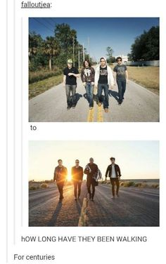 This important question about FOB's tired feet: