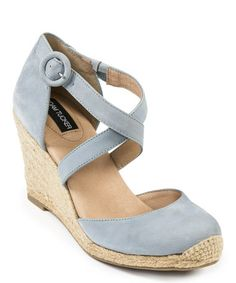 This Sky Blue Cross-Strap Bria Espadrille by Adam Tucker is perfect! #zulilyfinds
