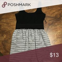 Black and gray with ruffles This dress is pretty old and I had this dress for a long it is in okay condition but it is old do it is in prefect condition Dresses Mini