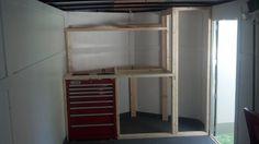 Front cabinet storage framing