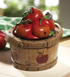 Apple Basket Cookie Jar