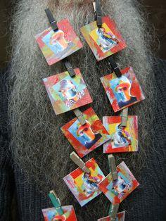 BEARD GALLERY - Opere di Alfonso Caccavale installate sulla mia barba (Galleria Pensile)