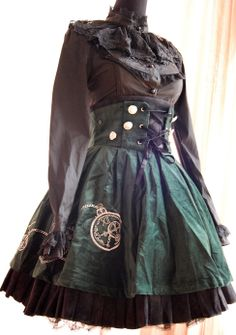 steampunk lolita | Tumblr Like the corset-esque lacing. Don't know how it would work on my body, though...