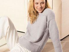 Do It Yourself: Pullover mit Lochmuster und betonten Bündchen stricken. DIY-Anleitung via DaWanda.com