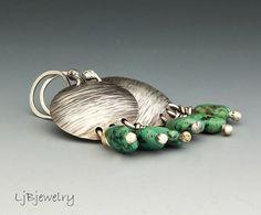 Silver Earrings,Turquoise Earrings, Dangle Earrings, Sterling Silver, Turquoise, Handmade, Metalsmith Jewelry, Statement Earrings   A fun pair of