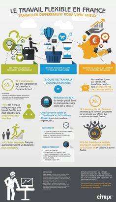 infographie le travail flexible en France via @parlonsrh