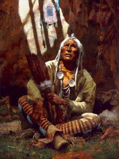 HOLY MAN BLACKFEET, Howard Terpning