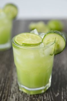 Cucumber Lime Margaritas #cincodemayo