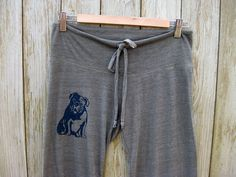 my faithful Bulldog Long Yoga Pants in Olive by nicandthenewfie, $28.00