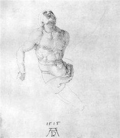 Estudio de un cuerpo de Cristo - Alberto Durero