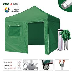 Eurmax 10 X 10 Pop up Canopy Party Tent Professional High Commercial Grade Full Aluminum Frame with 4 Sidewalls Walls and Wheeled Storage Bag, 3 Sizes, 5 Colors Choose (Kelly Green, 10 X 10) >> CONTINUE @: http://www.best-outdoorgear.com/eurmax-10-x-10-pop-up-canopy-party-tent-professional-high-commercial-grade-full-aluminum-frame-with-4-sidewalls-walls-and-wheeled-storage-bag-3-sizes-5-colors-choose-kelly-green-10-x-10/