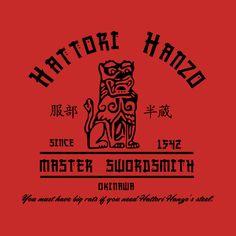 Awesome 'Hattori+Hanzo' design on TeePublic!