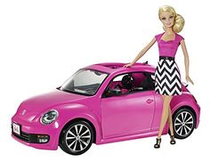 Barbie toys add speedy style to playtime. The detailed interior of this Barbie Volkswagen Beetle is sure to make it an everyday favorite. Shop our full line of Barbie toys for other must-haves. In pink/multi. Pink Volkswagen Beetle, Beetle Car, Barbie Real, Barbie Cars, Ri Happy, Hot Wheels, Barbie Doll Set, Barbie Playsets, Cabriolet