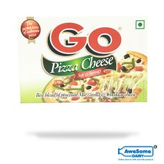 GO Pizza cheese: Go pizza cheese is soft and creamy. it is to be used as a topping while making a pizza. It can be used to bake or as a garnish. Net content of the pack is Nutrient Content: Enriched with protein, calcium, vitamin A. Go Cheese, Pizza Cheese, Cheddar Cheese, Sartori Cheese, Go Pizza, Cheese Online, Block Of Cheese, How To Make Pizza, Protein