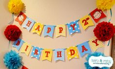 Curious George Happy Birthday Banner / Curious George Party Printable by HeartsandCraftsy