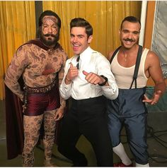 Zac Efron, Shannon Holtzapffel, and Jonathan Redavid in The Greatest Showman High School Musical, Zac Efron, Zendaya, Showman Movie, Disney Channel, Hottest Male Celebrities, The Greatest Showman, Circus Theme, Celebrity Babies