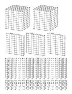 Base Ten Blocks Place Value Sheets and Printables by Mrs Clauses Creative Classroom Place Value Blocks, Math Place Value, Place Values, Numbers For Kids, Math Numbers, Decimal, Abacus Math, Base Ten Blocks, Math Sheets