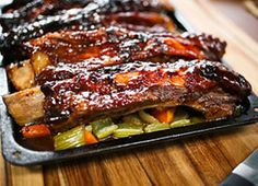 Barbecued Beef Ribs made in my new Wolfgang Puck Pressure Oven - PHENOMENAL!!  YUM!!