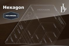 Patchworkové pravitko k šití hexagonů + DVD manuál
