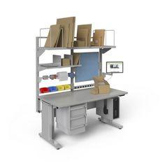 Dispatcher Computer Workstation Desk #industrialfurniture #industrial #desks #industrialworkbench #industrialworkstations
