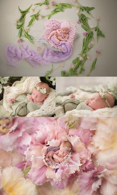 Spring floral newborn session sneak peek.  Boston newborn photography