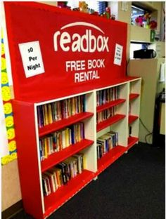 Adorable library idea! Cool Idea for a Library