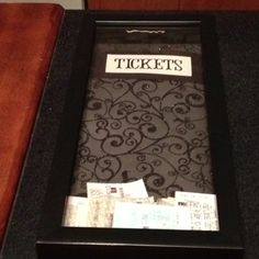 My version of the movie ticket stub shadow box!