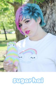 "This is the super cute kittywinks of Instagram wearing my kawaii rainbow clouds ""Love Wins"" t-shirt available in my Zazzle store. Thanks for the photo kittywinks!"
