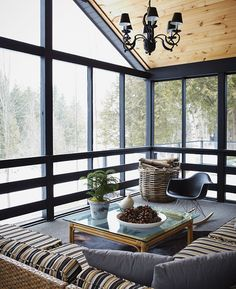 85 Beste Bauernhaus In Veranda Design-Ideen gescreent Back Porch Designs, Decor, Screened Porch Designs, Home, House With Porch, House, Cottage Decor, Winter Cabin, Building A Porch