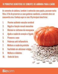 Clique na imagem para ver detalhadamente os 10 Principais Benefícios de Sementes de Abóbora para a Saúde.  #alimento #alimentação #alimentaçãosaudável #saúde #bemestar #abóbora #sementes #sementesdeabóbora