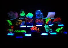 Fluorescent rock display at the Baton Rouge Gem & Mineral Show, 2013
