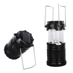 Кемпинг лампы солнечного аккумуляторные батареи перезарядить прямо 3 в 1 зарядка пути для спорта на открытом воздухе отдых туризм Черный/бронза