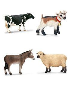 Look at this #zulilyfind! Farm Animal Figurine Set by Schleich #zulilyfinds