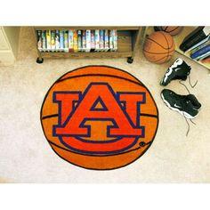 Auburn Tigers NCAA Basketball Round Floor Mat (29) AU Logo