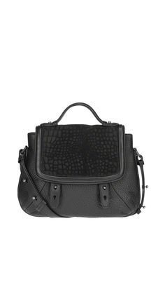 Mackage - CARRITA-F4 BLACK LEATHER MINI CROSSBODY BAG. www.mackage.com #luxuryhandbags #leather #womenswear #fw14 #mackage #messengerbag