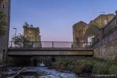 The Circulation Club from the River Calder at Oxford Road Bridge, Burnley, Lancashire, England. 22nd April 2015.