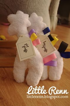 Minky Giraffe pattern