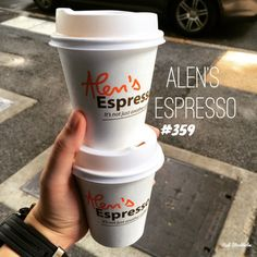 Alen's Espresso. With the end of the week fast approaching, my business partner and I grabbed a couple of these beauties on the run to kick start our day. Alen's Espresso located in the CBD was. End Of The Week, Brisbane, Espresso, Drinks, Day, Food, Cafes, Espresso Coffee, Drinking