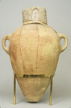 Sealed Amphora Containing Oil. Egypt, New Kingdom, 18th Dynasty-early, reign of Thutmose II - Early Joint Reign, ca. 1492-1473 B.C.