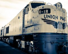 Train Art Print  X18 Union Pacific Train Wall by TraceyCapone, $30.00