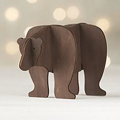 View larger image of Laser-Cut Wood Bear