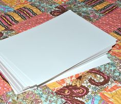 """""""The Girl Who Quilts: March Pay It Forward: Organizing!"""" She used 7"""" X 10.5"""" comic book boards to organize her fabric."""