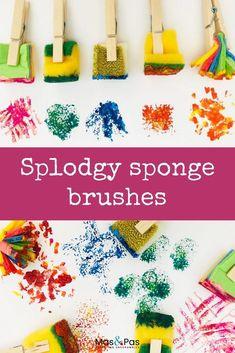 5pcs sponge brush children art diy painting tools baby drawing toys gift YH