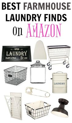 Farmhouse Laundry Room Ideas that are Functional & Fabulous! - Create Functional and Fabulous Farmhouse Laundry Rooms with these best farmhouse laundry finds on a - Laundry Shelves, Laundry Decor, Laundry Room Organization, Laundry Room Design, Laundry Storage, Laundry Detergent Storage, Laundry Signs, Laundry Area, Organizing