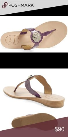 NEW Jack Rogers LILAH Croc Sandal – Purple – 7.5M NEW Jack Rogers LILAH Croc Sandal – Purple – 7.5M. An all time classic, Jack Rogers thong sandal goes high fashion with croc-embossed leather and a gleaming ornamental turnlock centerpiece. An elastic insert at the strap's side ensures a custom fit & can transition from day to night in the blink of an eye. Donot miss out on these fabulous sandals that will make all of your Lilly Pulitzer wearing friends jealous. Brand new, no box.  RETAIL…