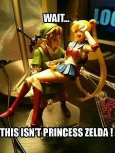 Oh my god... SAILOR MOON AND LINK XD